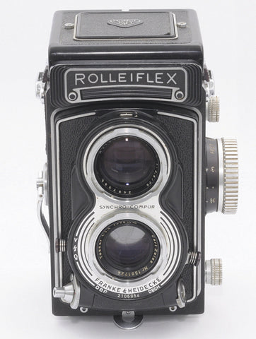 ROLLEIFLEX T TWIN LENS MEDIUM FORMAT 120 CAMERA WITH CASE, EXCELLENT ++