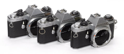PENTAX ME SUPER BODIES FOR PARTS OR REPAIR