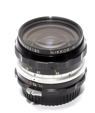 USED NIKKOR-H 28/3.5 NON-AI LENS, EXCELLENT NIKON 28mm