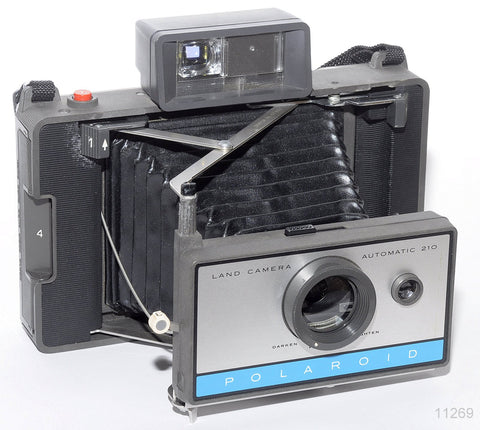 USED POLAROID 210 INSTANT FOLDING FILM CAMERA