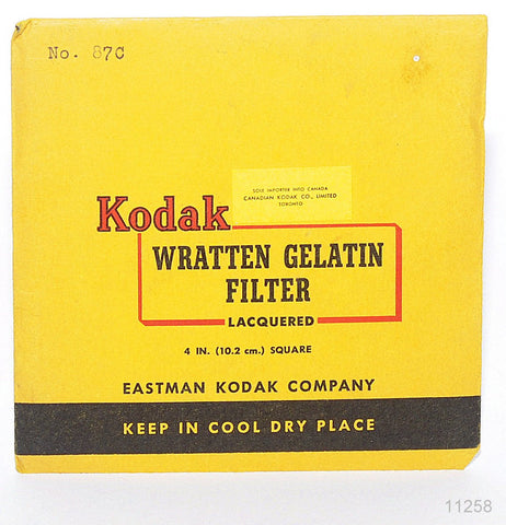 OPENED KODAK WRATTEN 87C 4x4 INCH 102mm GELATIN FILTER