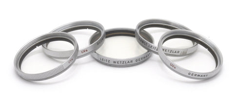 USED LEICA 39mm UVa CHROME FILTERS, LEITZ WETZLAR GERMANY