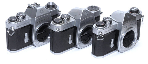 PENTAX SPOTMATIC BODIES FOR PARTS OR REPAIR, ASSORTED MODELS