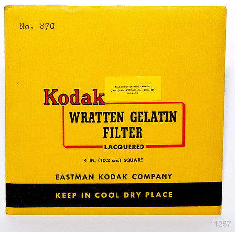 OPENED KODAK WRATTEN 87C 4 INCH SQUARE 102mm GELATIN FILTER