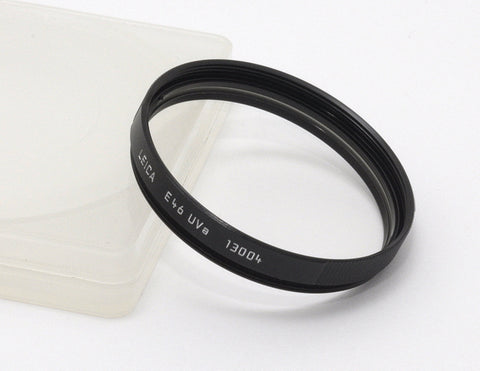 USED LEICA E46 UVa BLACK FILTER 13004, LEITZ GERMANY 46mm UV