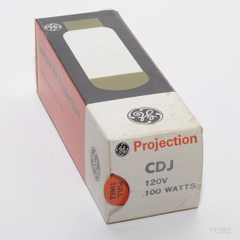 GE CDJ PROJECTION LAMP 120 VOLT 100  WATTS
