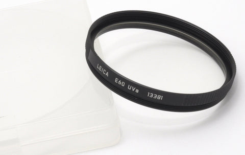 USED LEICA E60 UVA BLACK FILTER 13381, LEITZ GERMANY 60mm UV