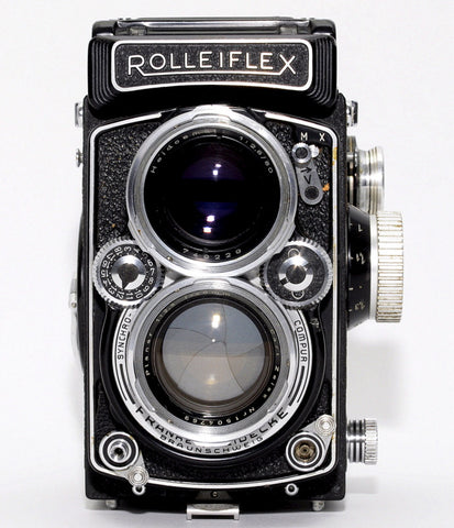 USED ROLLEIFLEX 2.8D TLR CAMERA, ZEISS PLANAR 80mm 1:2.8 LENS