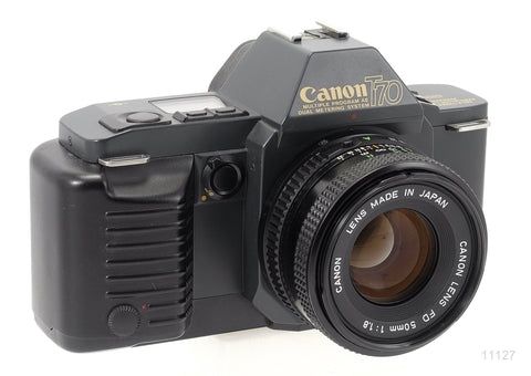 USED CANON T70 35MM CAMERA with CANON FD 50MM F/1.8 LENS