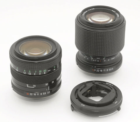 FOR CONTAX/YASHICA , TAMRON ADAPTALL 2 ULTRACOMPACT ZOOM LENSES 28-70mm & 70-210mm