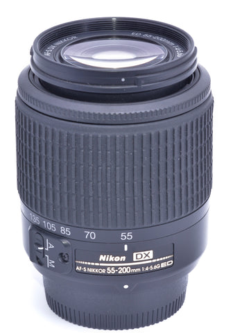 AF-S NIKKOR 55-200/4-5.6 G ED DX NIKON LENS, LIKE NEW