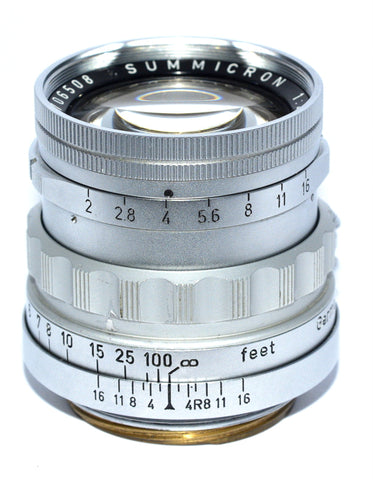 LEITZ WETZLAR RARE RIGID SUMMICRON 50/2 LEICA LTM LENS, 1959, ONLY 1160 MADE