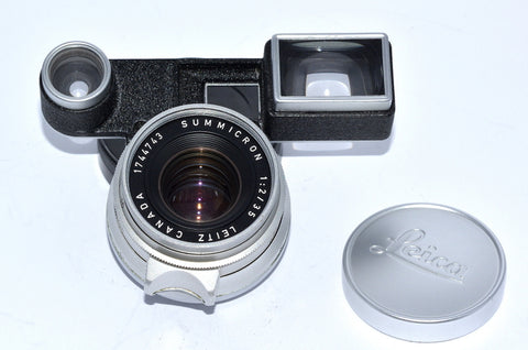 LEITZ CANADA SUMMICRON 35/2 with M3 EYES, LEICA 8 ELEMENT VERSION 1 LENS