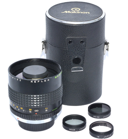 MAKINON 300/5.6 COMPACT TELEPHOTO MIRROR LENS FOR MINOLTA MD