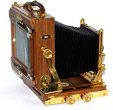 ZONE VI 4X5 FOLDING FIELD BEAUTIFUL WOOD/BRASS CAMERA, BODY ONLY OR WITH LENS
