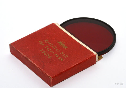 USED LEICA FILTER, LIGHT RED FOR TELYT 40cm LENS, ROTFILTER HELL , TGUOO
