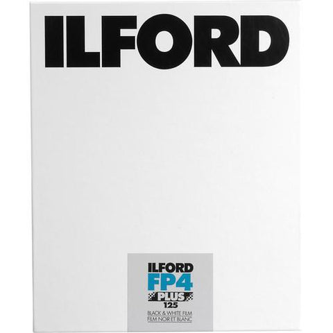 Ilford FP4 Plus 4x5 Medium format Black & White Sheet Film 125 ASA 25 Sheet Box