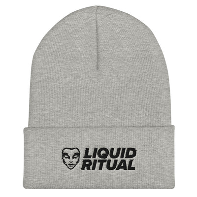 Embroidered Cuffed Beanie - Stacked Logo