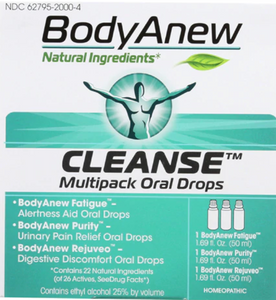 BodyAnew™ Homeopathic Cleanse Multipack Oral Drops Kit -- 1 Kit