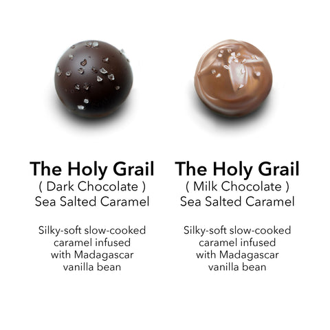 milk and dark chocolate sea salted caramel