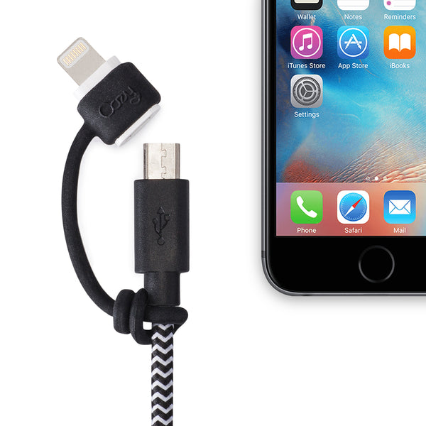 LightningCozy secure Apple Lightning to Micro USB and USB-C adapter easy gadget and solution for not getting lost adapters charging syncing all Apple devices iPods iPads iPhones Kindles and Androids