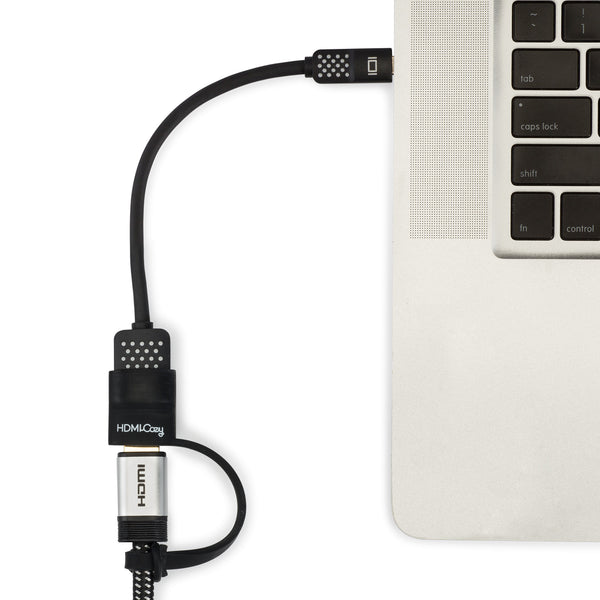 HDMICozy Belkin™ HDMI to Thunderbolt adapter secure and easy connection to monitors and projectors