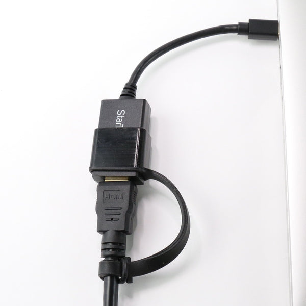 StarTech™ Cozy holds yStarTech™ HDMI to Mini Display Port Adapter connect to Apple MacBook Pro MacBook Air MacBook