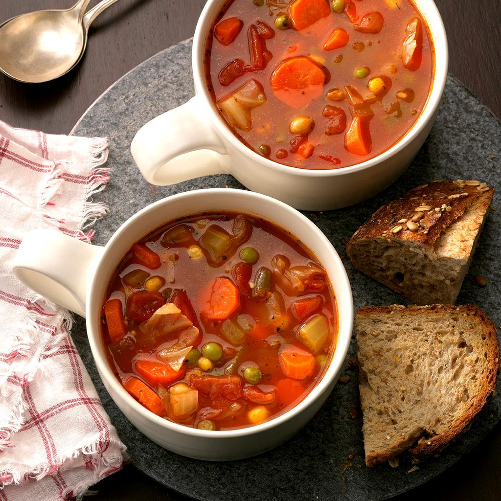 TOMATO VEGETABLE SOUP.