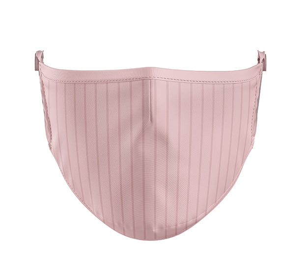 Reusable Antimicrobial Face Mask, Pink Pinstripes [#0150]