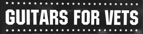 Guitars For Vets Reflective Bumper Sticker
