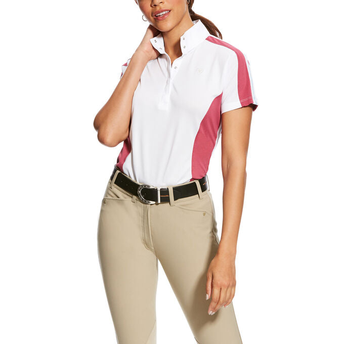 Kids Aptos Block Rose Violet Powder Blue  Short Sleeve