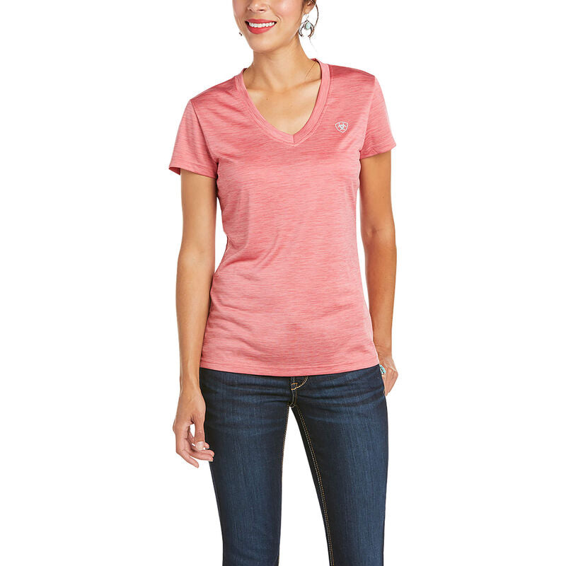 Womens Laguna SS Top - Frayed Red