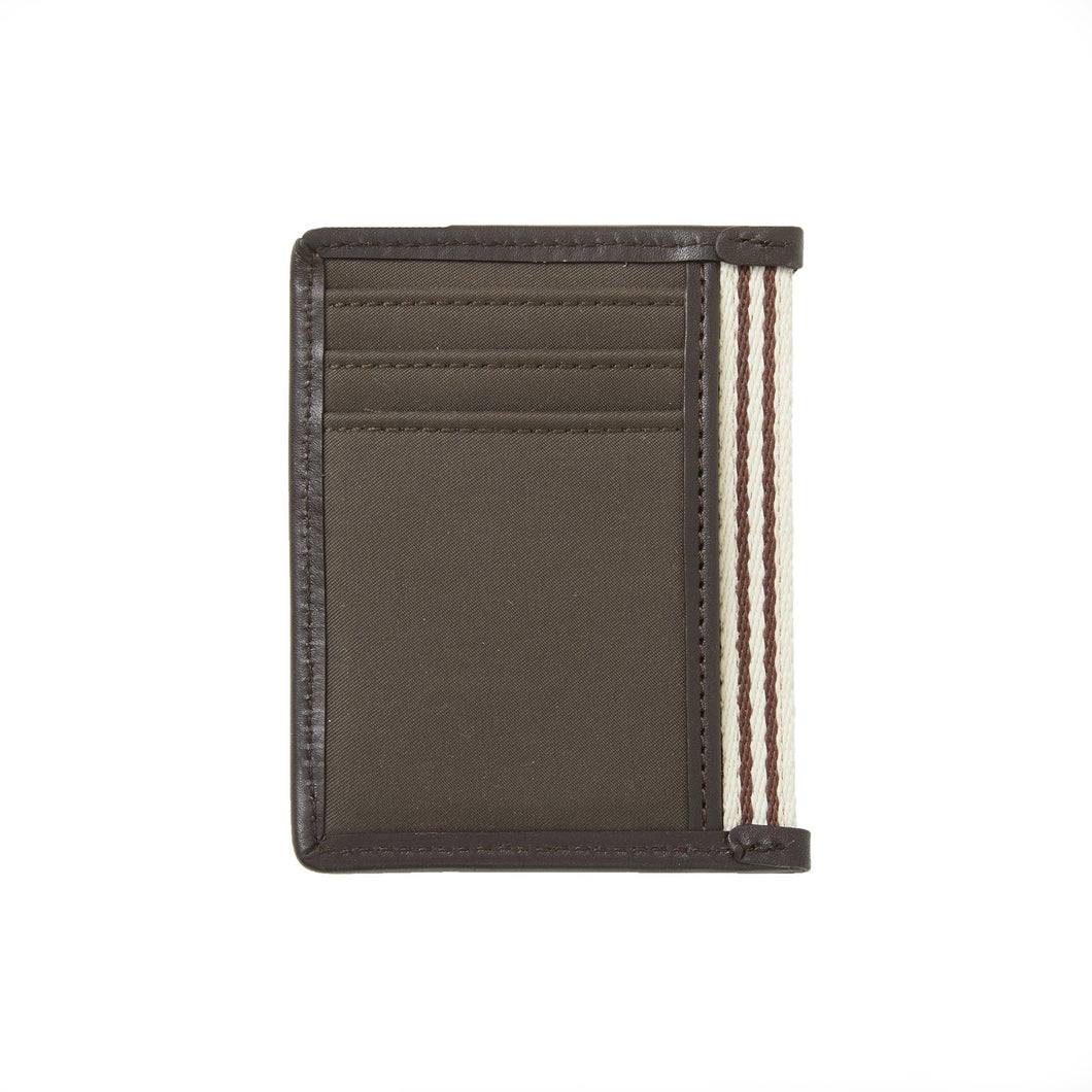 Card Case with Bottle Opener - Brown Microfiber