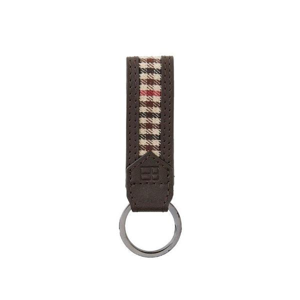 Key Fob - Leather Plaid