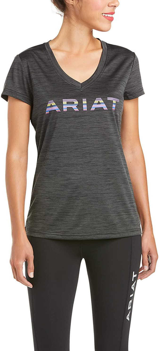 Womens Laguna Logo SS Top - Charcoal