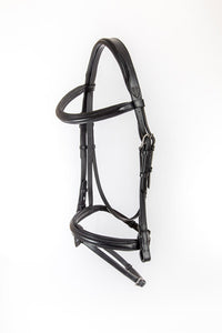 Chateau Dressage Bridle with Calfskin Covered Reins