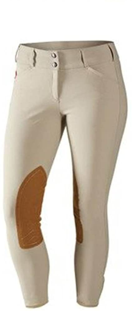 Womens Mid Rise Front Zip Breeches