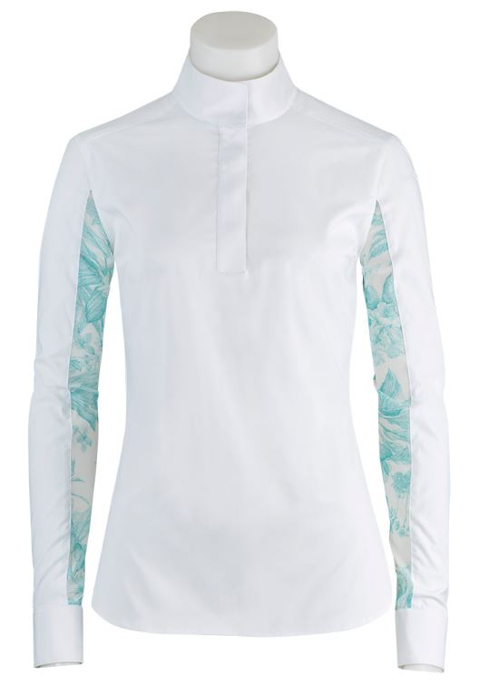 Womens Lauren Long Sleeve Aquamarine Floral