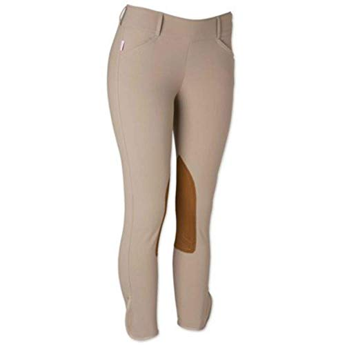 Womens Mid Rise Side Zip Breeches
