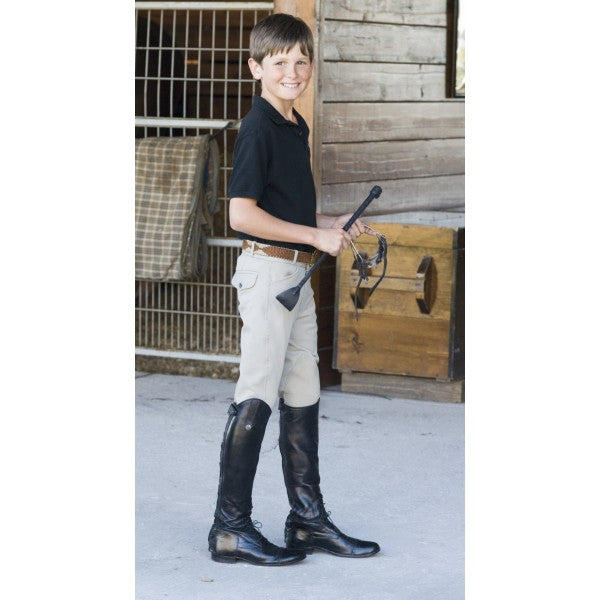 Kids-Boys Pocket Euroweave Breech Show Tan