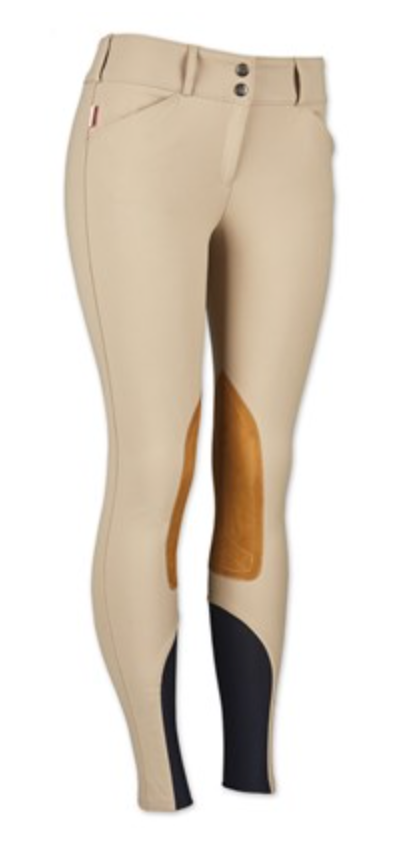 Womens Low Rise Front Zip Breeches Boot Sock