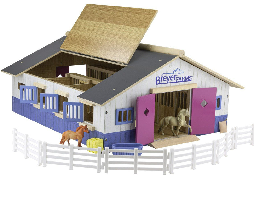 Breyer Farms Deluxe Wood Stable Playset