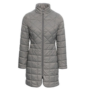 Womens AA Collection Insula Quilted Long Coat