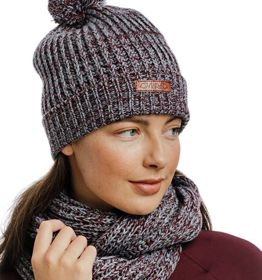 Womens Knitted Hat and Snood Port/Aviat