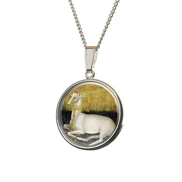 Medieval White Hart Necklace