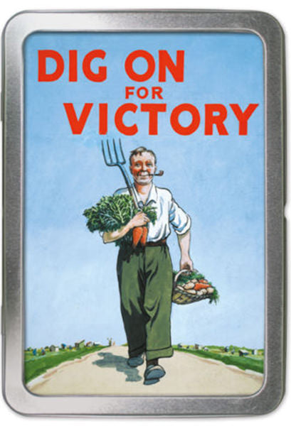 Dig For Victory Notelets in a Tin