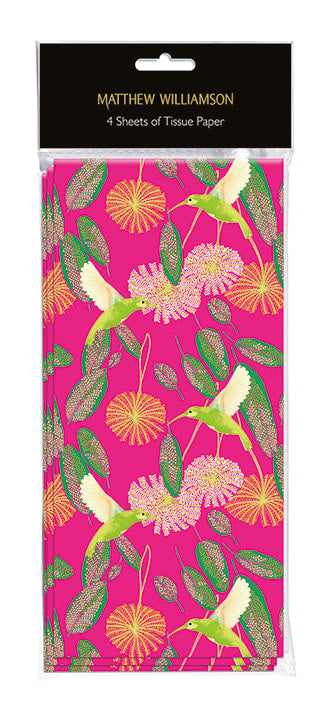 Tissue Paper Sheets - Matthew Williamson Hummingbird Print