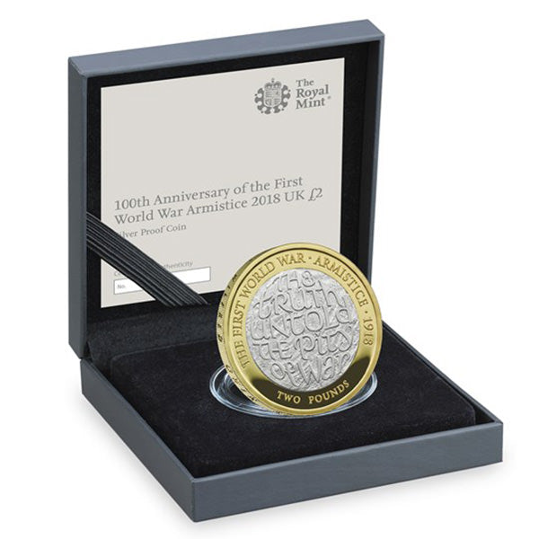 100th Anniversary of the First World War Armistice 2018 Silver Proof Coin £2