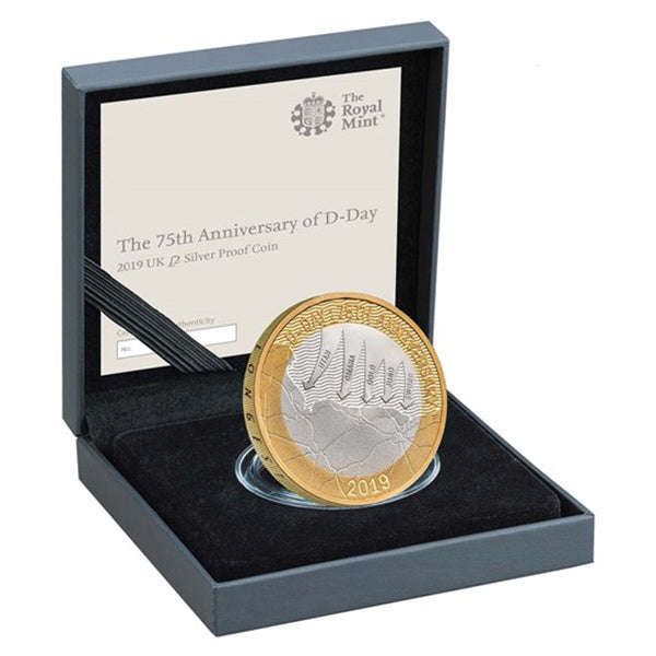D-Day Commemorative Coin in Display Box