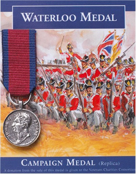 Waterloo Medal: Miniature Replica Medal